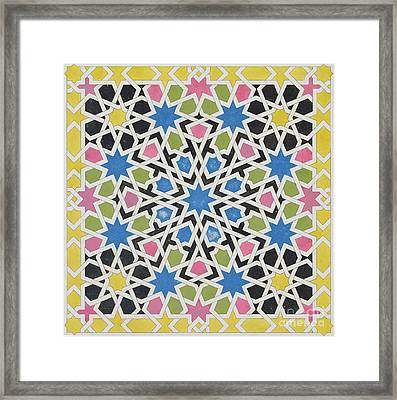 Mosaic Design From The Alhambra Framed Print by James Cavanagh Murphy