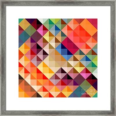 Mosaic Framed Print by Donika Nikova