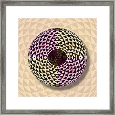 Mosaic Eye Orb Framed Print by Tony Rubino