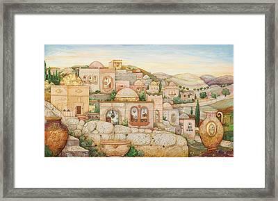 Mosaic Jerusalem  Framed Print by Michoel Muchnik