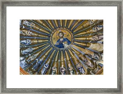 Mosaic Of Christ Pantocrator Framed Print by Ayhan Altun