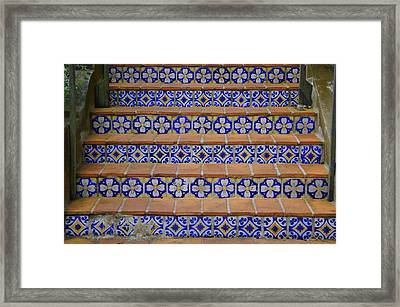 Mosaic Steps Framed Print by Laurie Perry