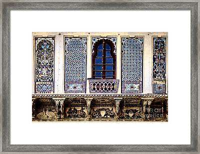 Mosaic Windows Framed Print by Catherine Arnas