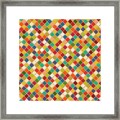 Mosaico Framed Print by Sharon Turner
