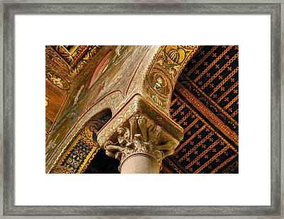 Mosaics Of Monreale  Framed Print by Alida Thorpe