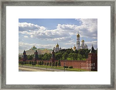 Moscow Kremlin Framed Print by Elena Nosyreva