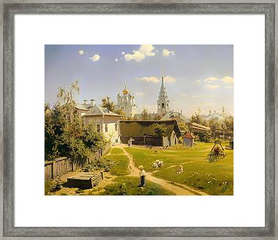 Moscow Patio Framed Print by Mountain Dreams
