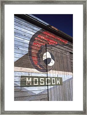 Moscow Storage Barn Framed Print by Latah Trail Foundation