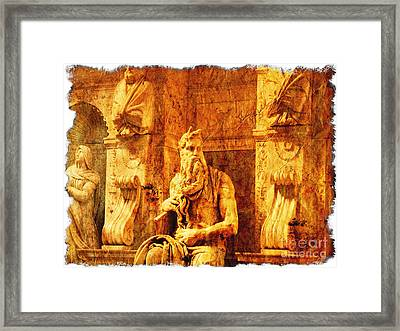 Moses Framed Print by Stefano Senise