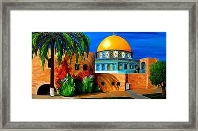Mosque - Dome Of The Rock Framed Print by Patricia Awapara