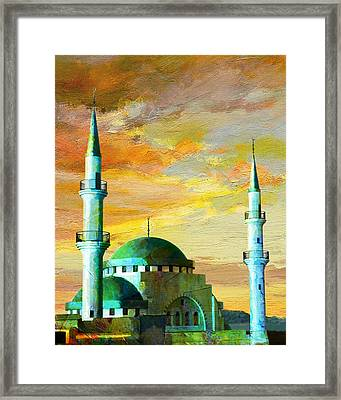 Mosque Jordan Framed Print by Catf