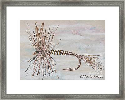 Mosquito Dry Fly Framed Print by Dana Carroll