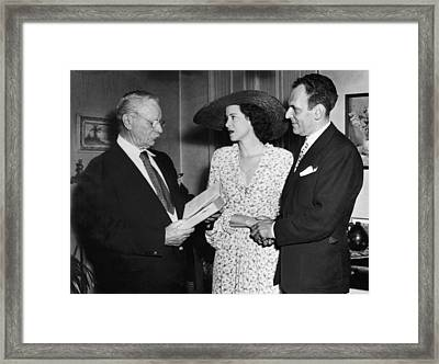 Moss Hart And Kitty Carlisle Framed Print by Underwood Archives