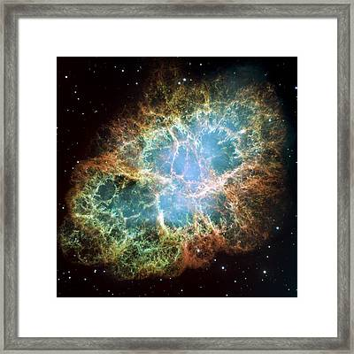 Most Detailed Image Of The Crab Nebula Framed Print by Adam Romanowicz