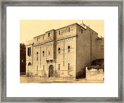 Mostaganem, The House Of Cai ¨ D Algiers, Neurdein Framed Print by Litz Collection