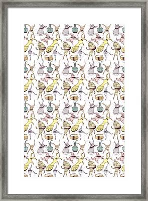 Mostriciattoli Pattern Framed Print by Freshinkstain