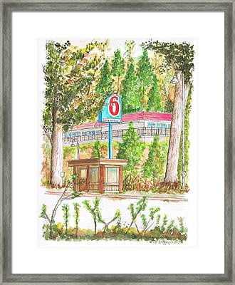 Motel 6 In Mammoth Lakes - California Framed Print by Carlos G Groppa