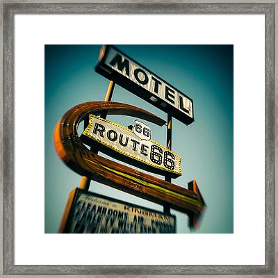 Motel Framed Print by Dave Bowman