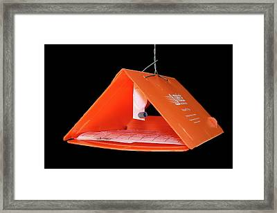 Moth Trap Baited With Pheromones Framed Print by Estoban Basoalto/us Department Of Agriculture