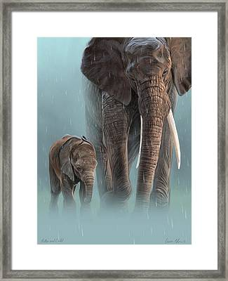 Mother And Child Framed Print by Aaron Blaise