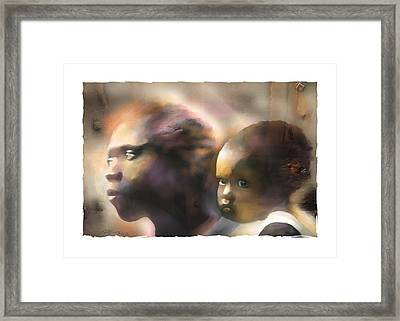 Mother And Child Framed Print by Bob Salo