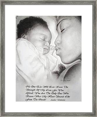 Mother And Child Framed Print by Melodye Whitaker