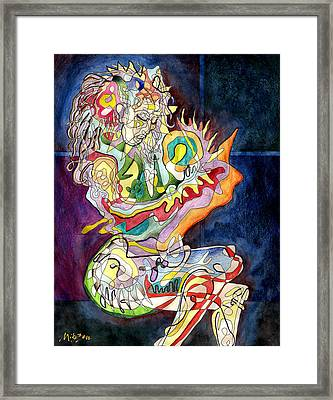 Mother And Child Framed Print by Art By Miko