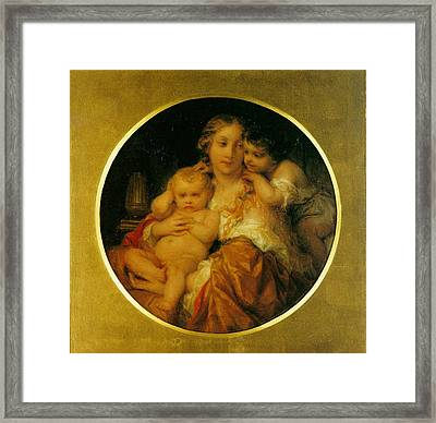 Mother And Child Framed Print by Paul  Delaroche