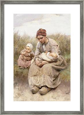 Mother And Child Framed Print by Robert McGregor