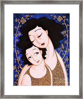 Mother And Daughter Framed Print by Rebecca Mott
