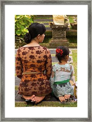 Mother And Daughter Framed Print by Rick Piper Photography