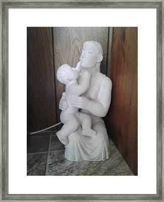 Mother And Son Framed Print by Edwin A Ziarko