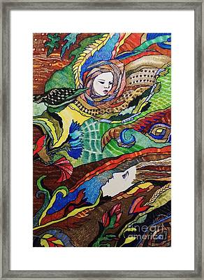 Mother Earth  And Spirit Child Framed Print by Diane Soule