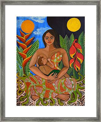 Mother Earth - Nourish  Framed Print by Jennifer Mourin