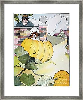 Mother Goose: Pumpkin Framed Print by Granger