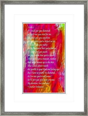 Mother If I Could Give You 2 Framed Print by Barbara Griffin