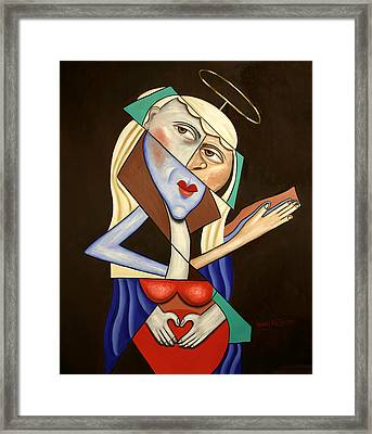 Mother Mary Framed Print by Anthony Falbo