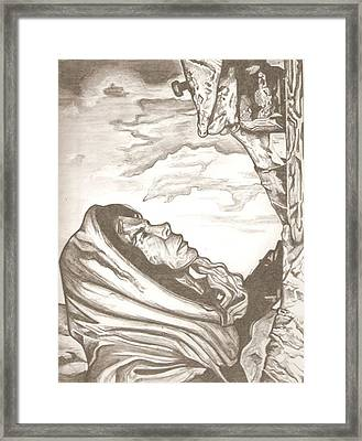 Mother Mary Drawing Framed Print by Robert Crandall