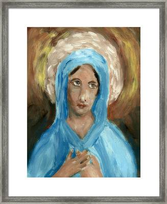 Mother Mary Framed Print by Peg Holmes