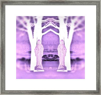 Mother Mary Protect Us Framed Print by Dan Sproul