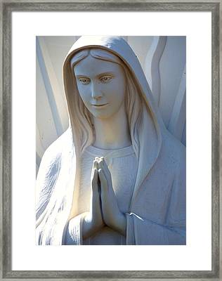 Mother Mary Statue Framed Print by David G Paul