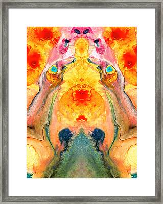 Mother Nature - Abstract Goddess Art By Sharon Cummings Framed Print by Sharon Cummings