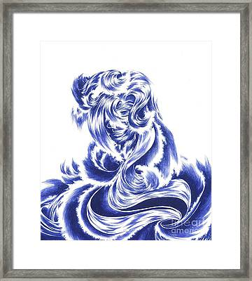 Mother Nature - Face Of The Sea Framed Print by Alice Chen