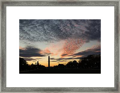 Mother Nature Painted The Sky Over Washington D C Spectacular Framed Print by Georgia Mizuleva