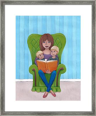 Mother Reading Framed Print by Christy Beckwith