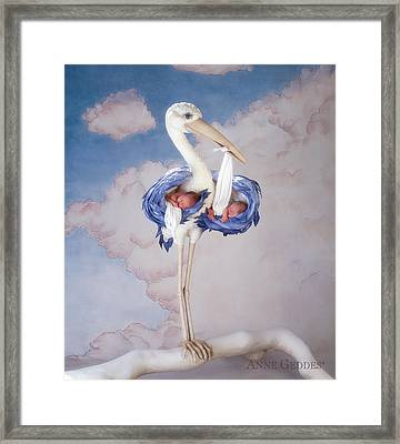 Mother Stork Framed Print by Anne Geddes