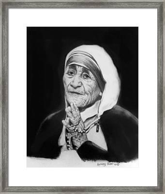 Mother Teresa Framed Print by Anthony Falbo