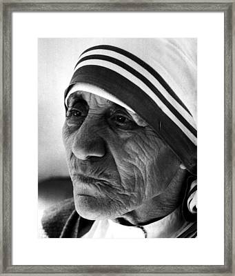 Mother Teresa Close Up Framed Print by Retro Images Archive