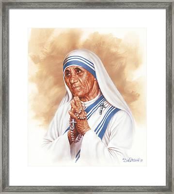 Mother Teresa Framed Print by Dick Bobnick