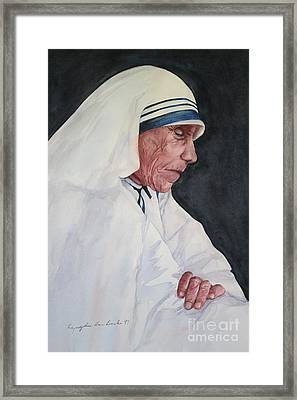 Mother Teresa Framed Print by Kyong Burke